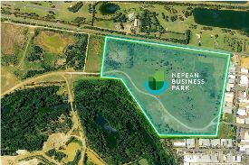 aerial shot of nepean business park site