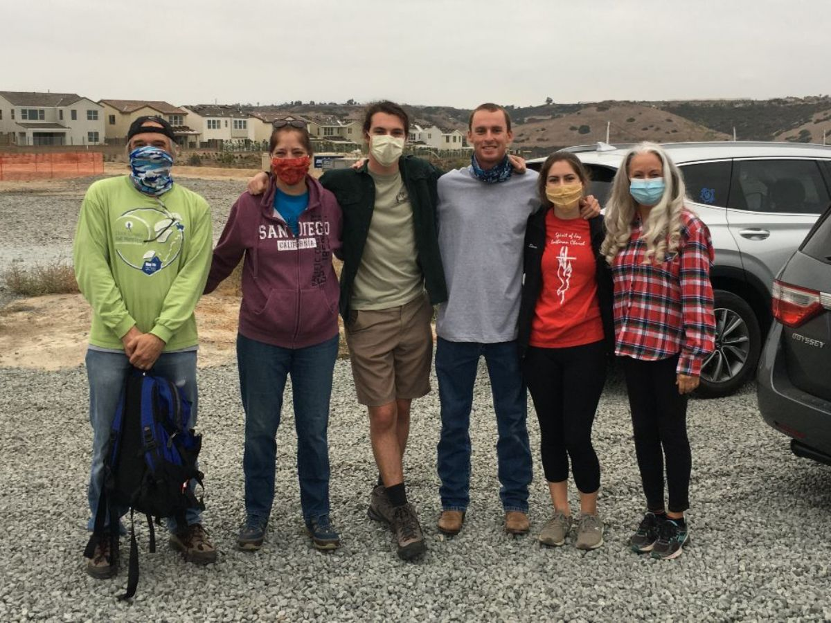 Pastor Dan and Karyn, Jim, Janine, Shannon and Trevor Stemper, Mikey Schuler, and Mick Hall represented Spirit of Joy at a house build for Project Mercy