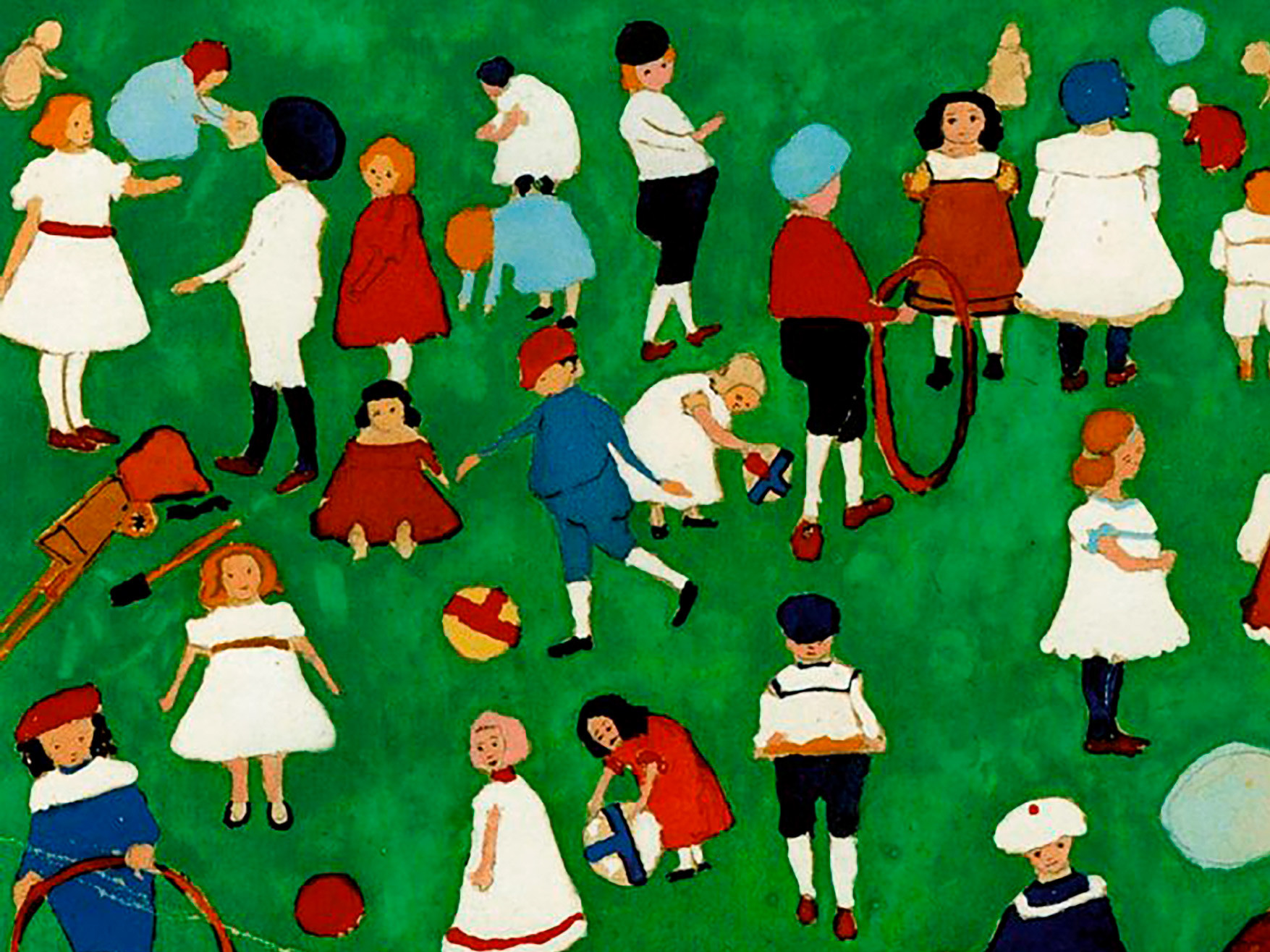 Kazimir Malevich, Children on the Grass, 1908 (Pushkin Museum State Museum of Fine Arts, Moscow).