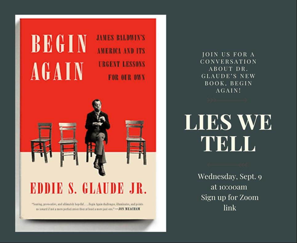 "Cover of ""Begin Again"" book by Professor Eddie Glaude"