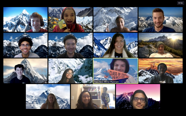 Screenshot of virtual everest climb session