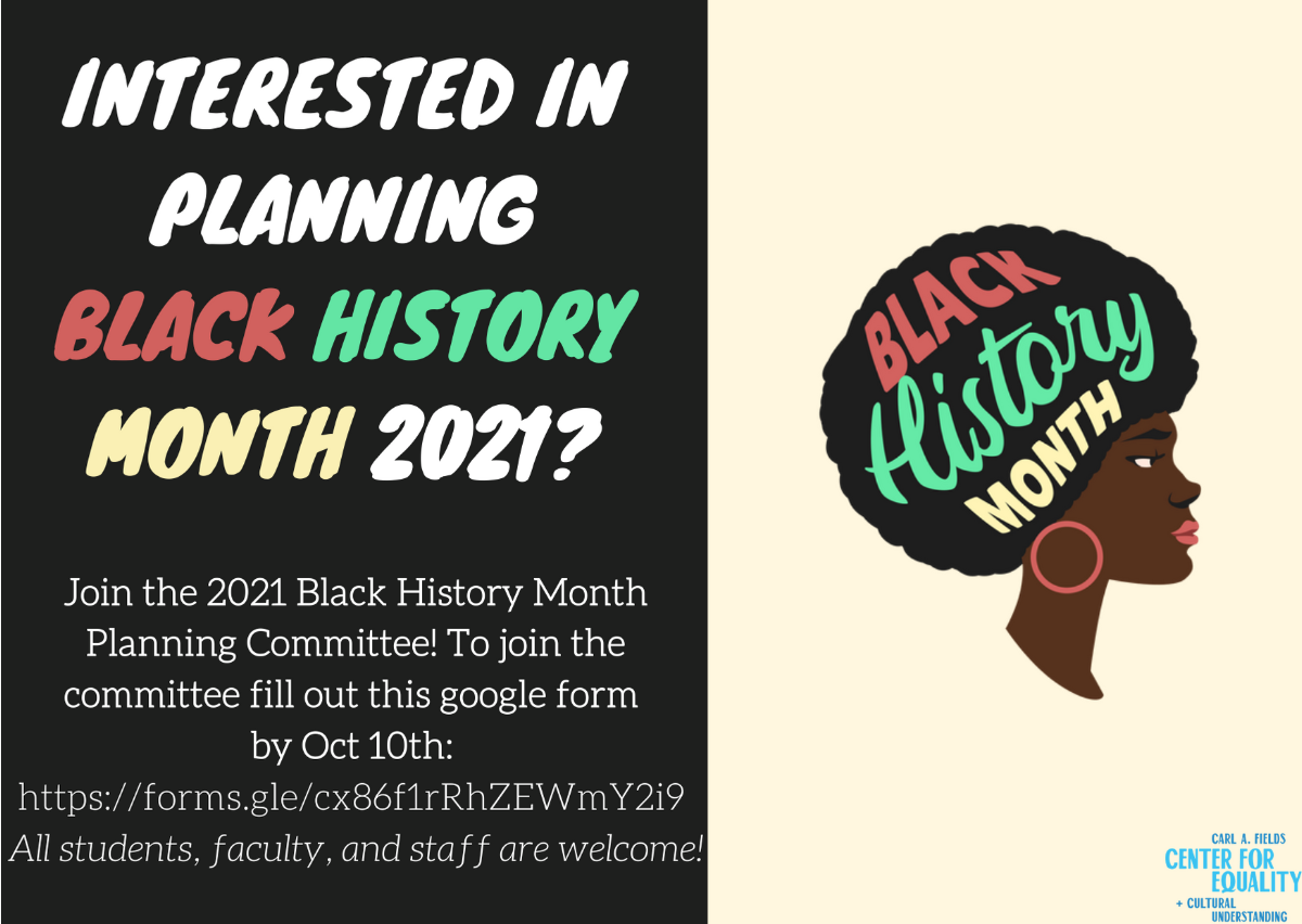 Black History Month planning committee poster