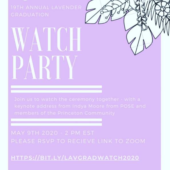 Lavendar Graduation Watch Party