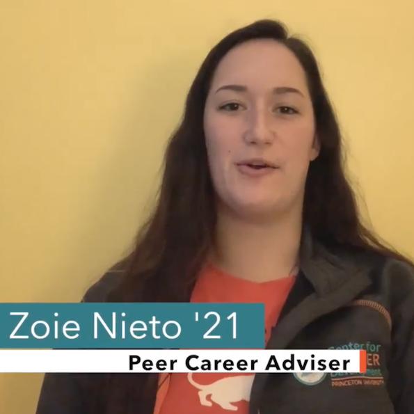 Zoie Nieto '21, Peer Career Adviser