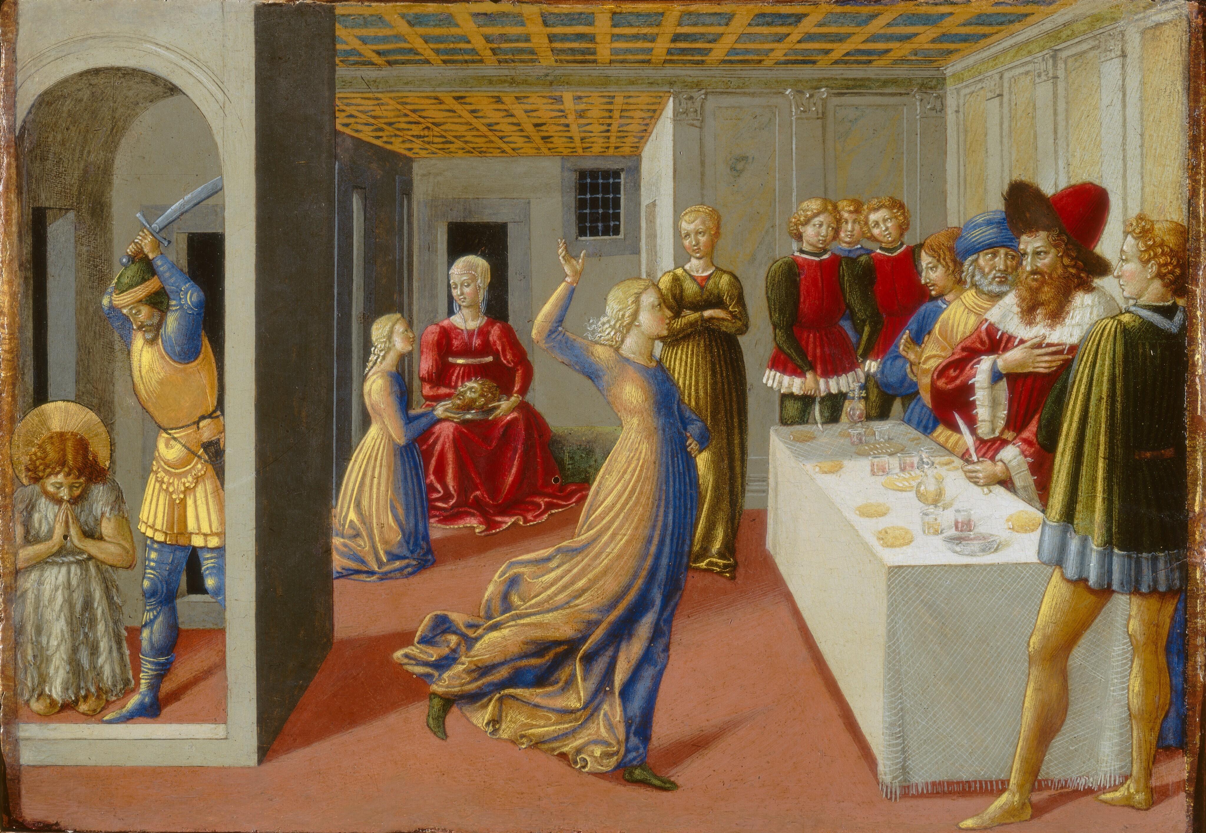 Benozzo Gozzoli : The beheading of John the Baptist