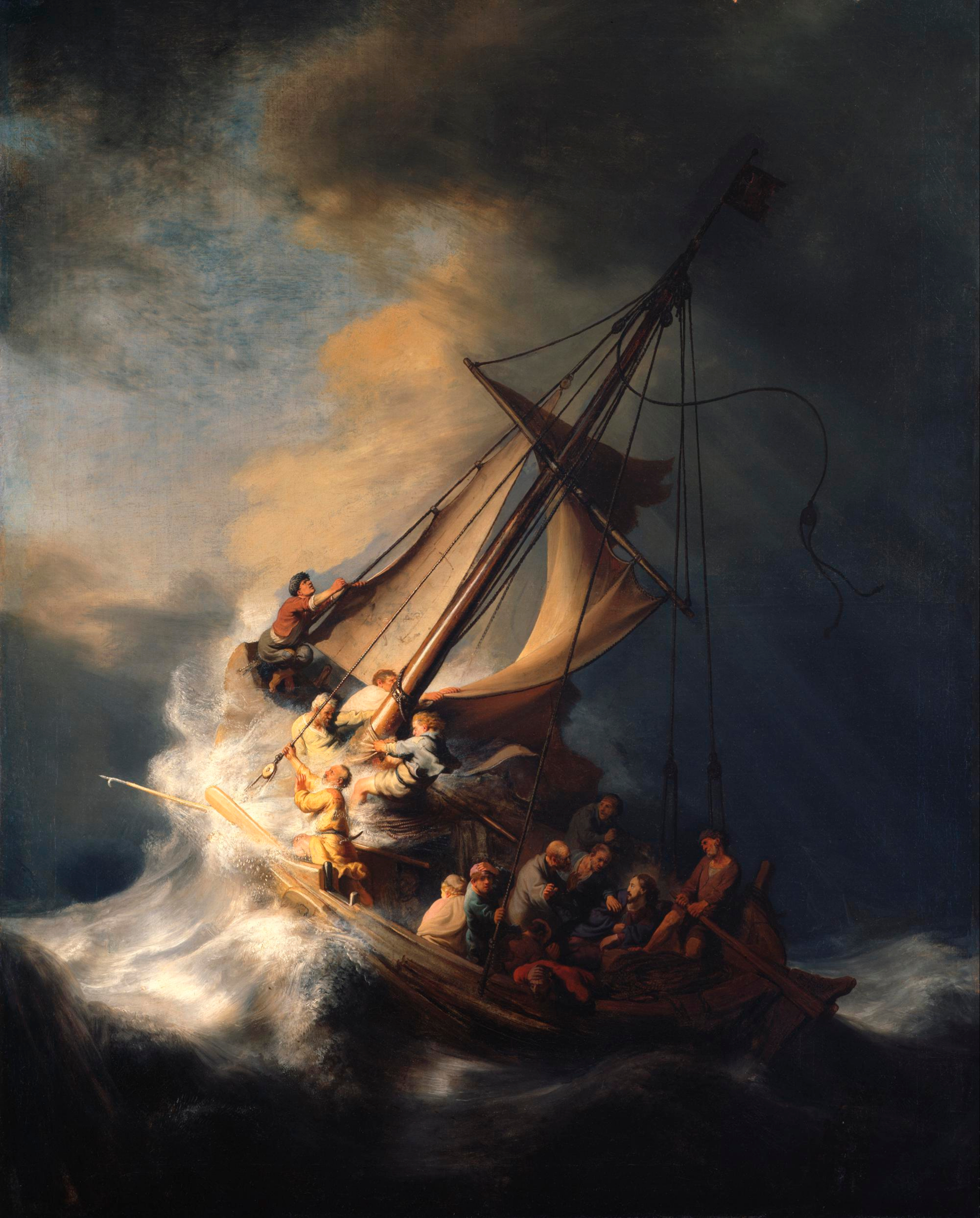 Rembrandt. Storm on the Sea of Galilee