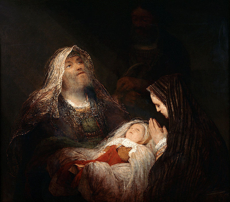 Simeon and Anna by Arendt de Guilder