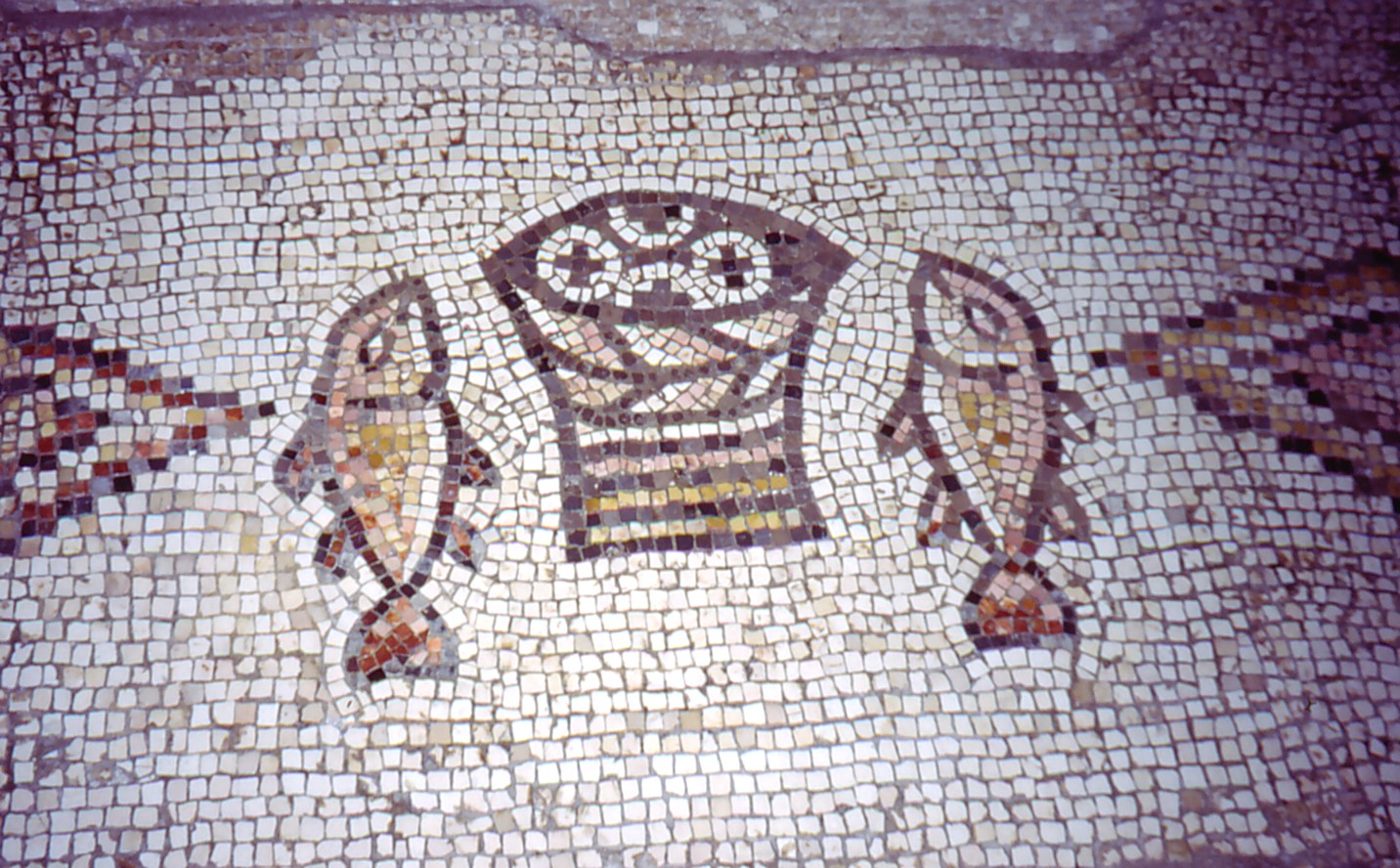 Mosaic of loaves and fishes