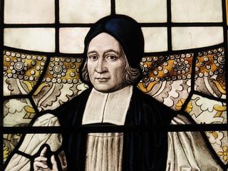 Bishop Thomas Ken stained glass window
