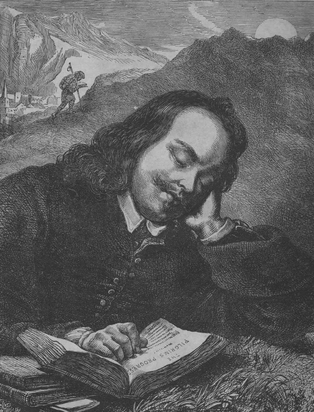 John Bunyan writing Pilgrim's Progress