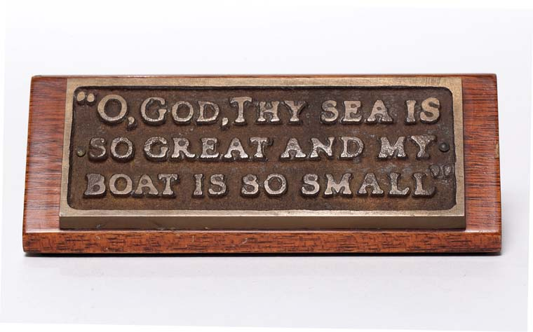 Breton fisherman's prayer - plaque from the Oval Office