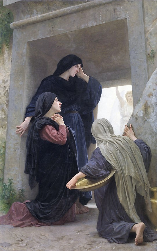 Three women at the empty tomb.