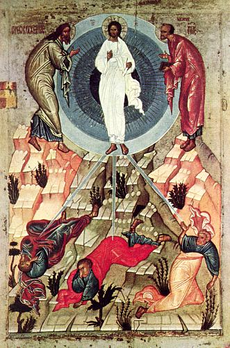 Icon of the transfiguration of Jesus