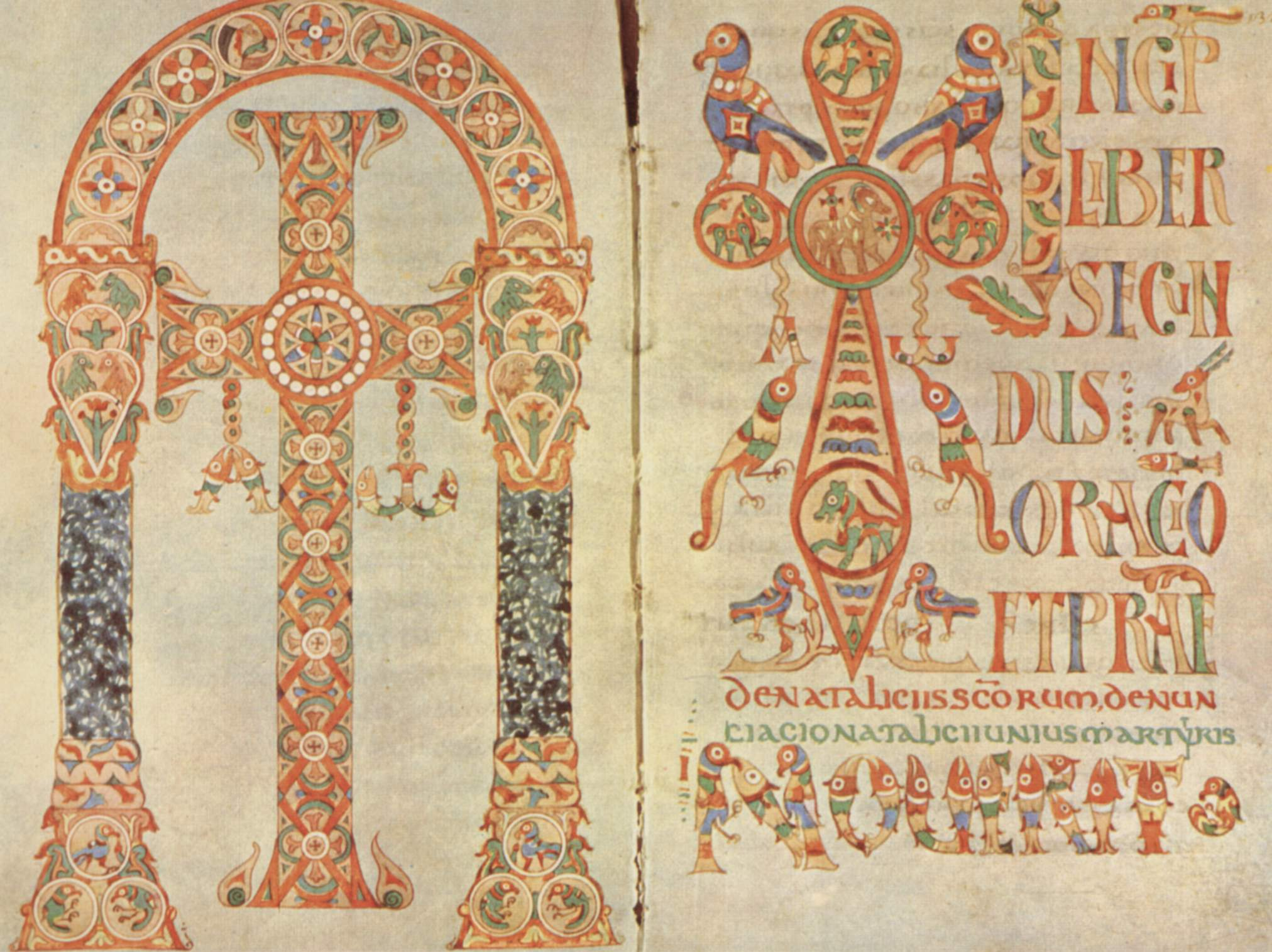 A page from an illustrated manuscript of the Gelasian Sacramentary