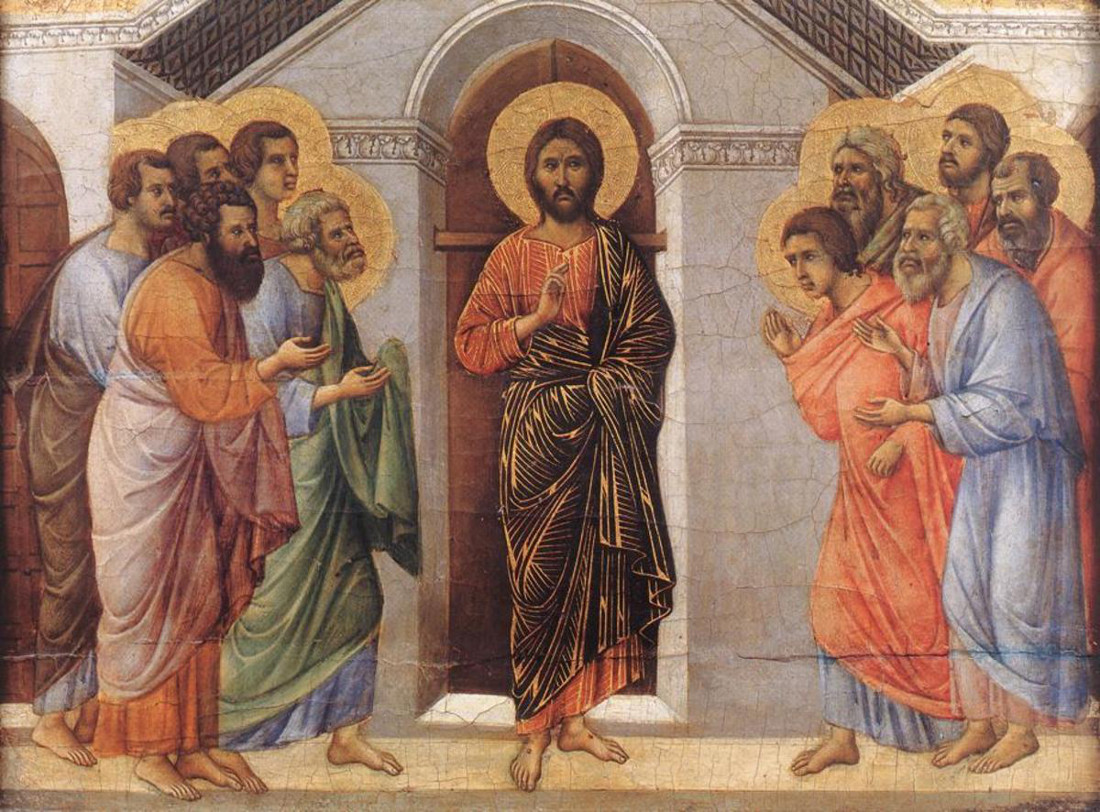Duccio: Jesus appears to his disciples