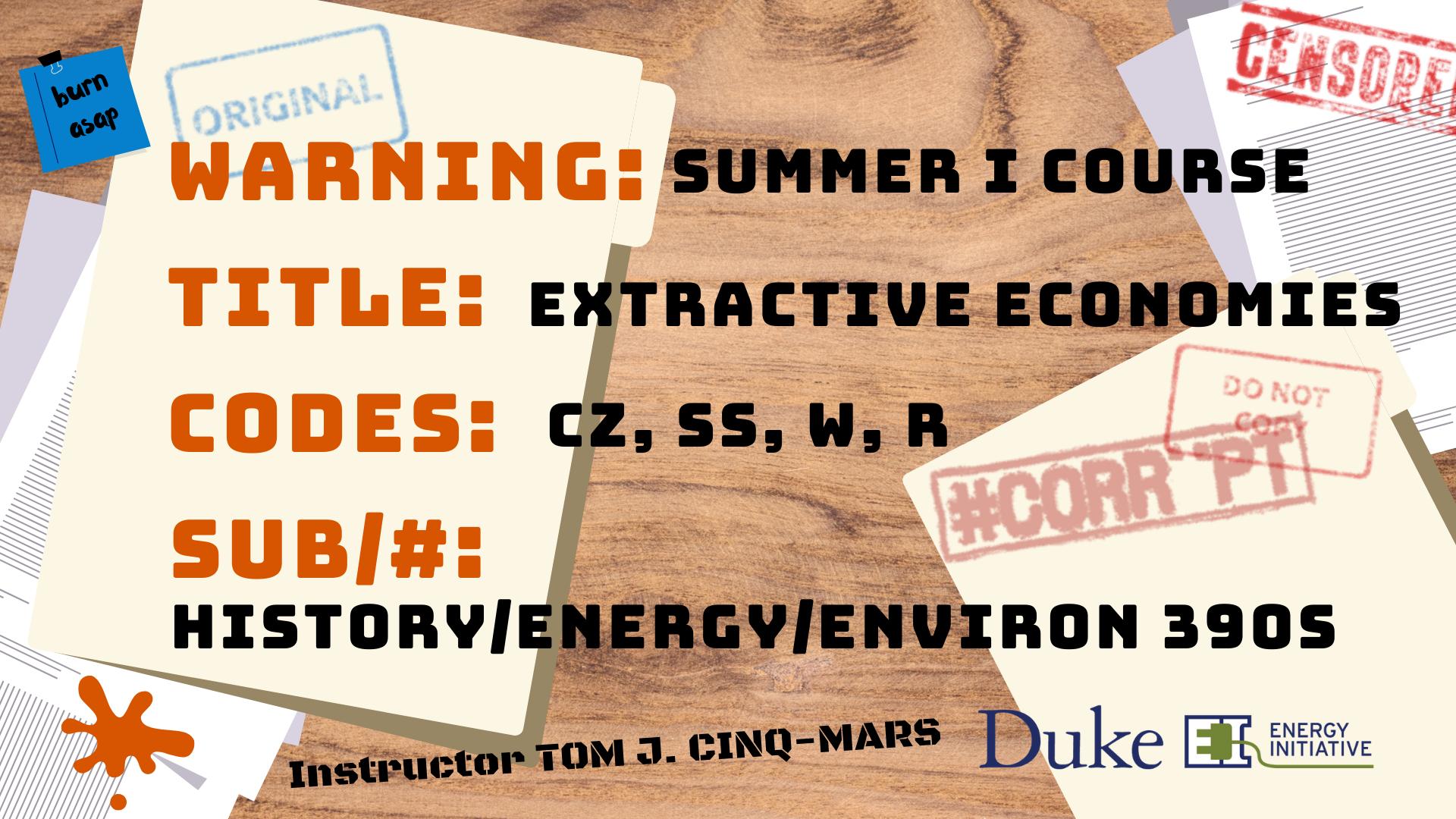 Extractive Economies