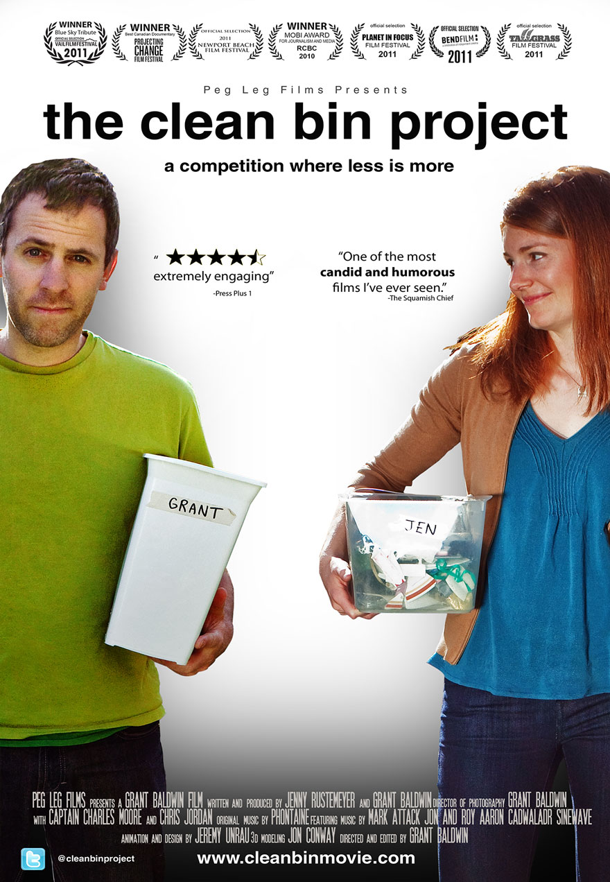 The Clean Bin Project poster acts as a link to film page