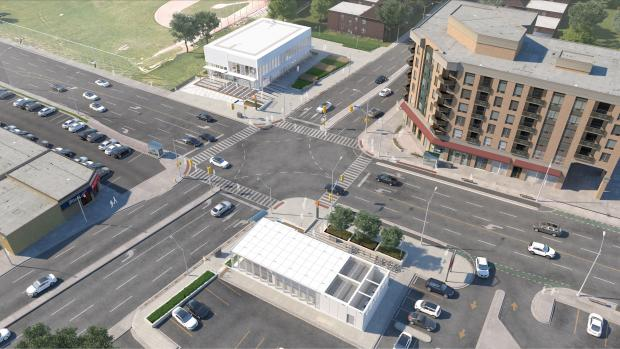Metrolinx rendering of Bayview & Eglinton intersection from the northwest