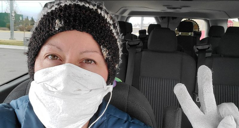 Driver for MTAS wearing mask during pandemic of 2020