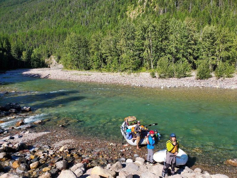 MTAS clients with Wilderness River Outfitters guides