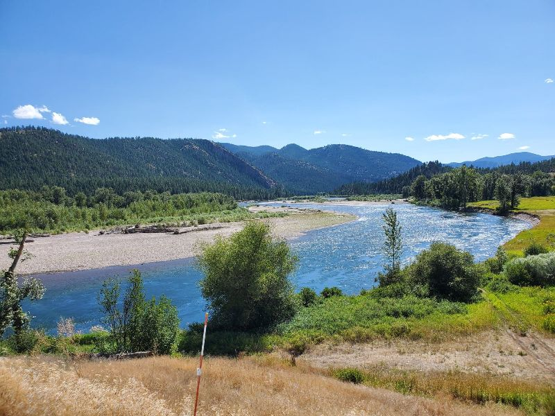 View of the Clark Fork River from Missoula River Lodge
