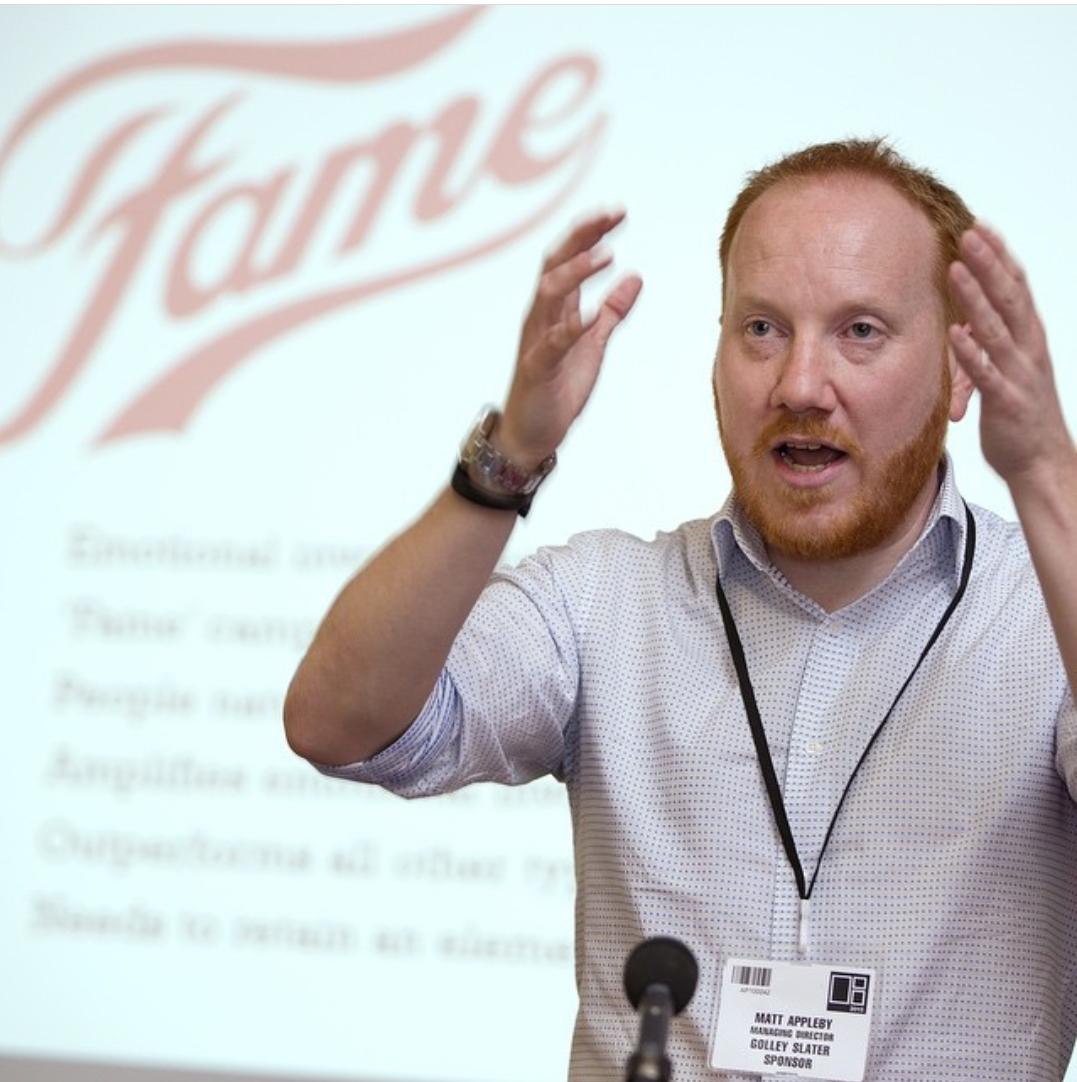 Matt Appleby PR speaking at a digital marketing conference in Cardiff