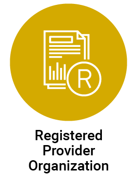 Registered Provider Organization icon selected