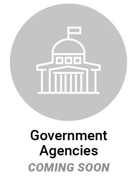 Government Agencies icon - coming soon