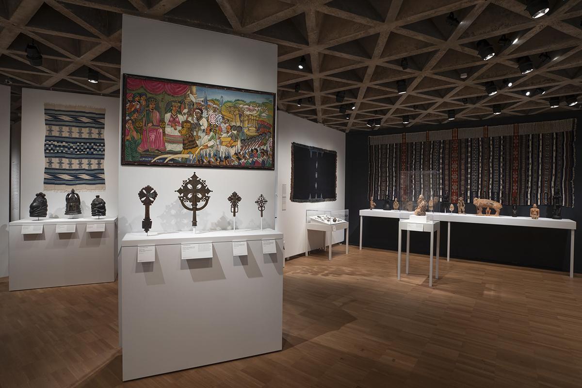 View of African art galleries