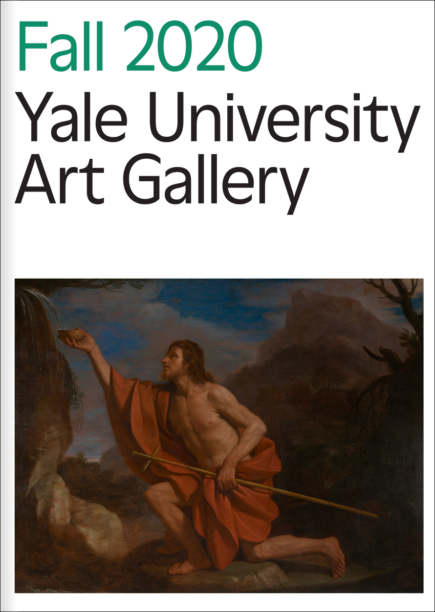 Cover of the fall 2020 Yale University Art Gallery magazine