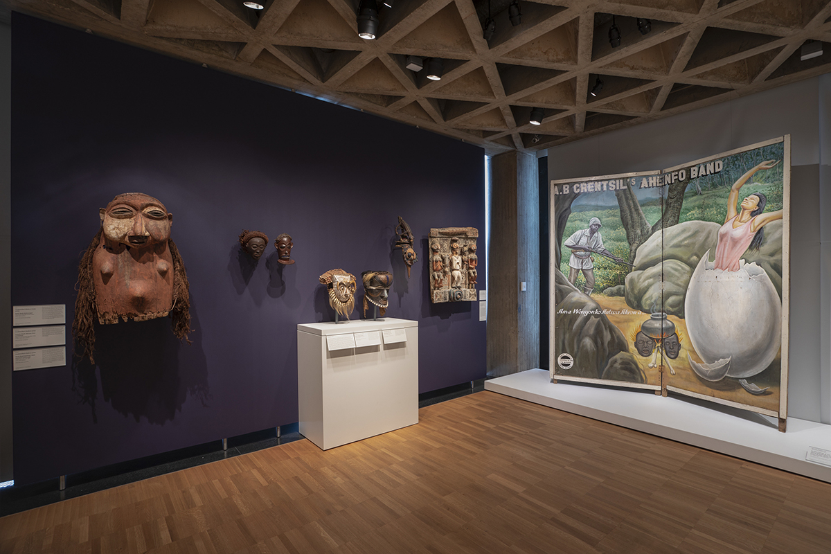 View of African art gallery