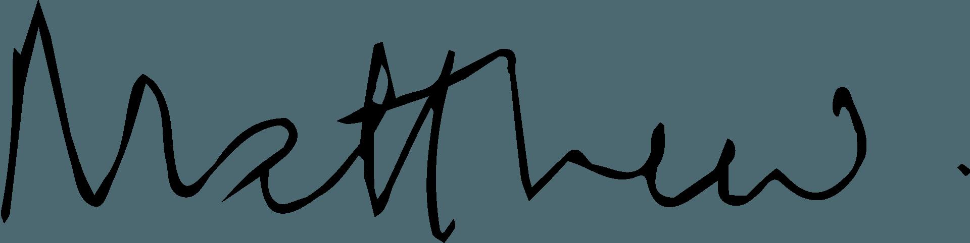 Matthew's signature