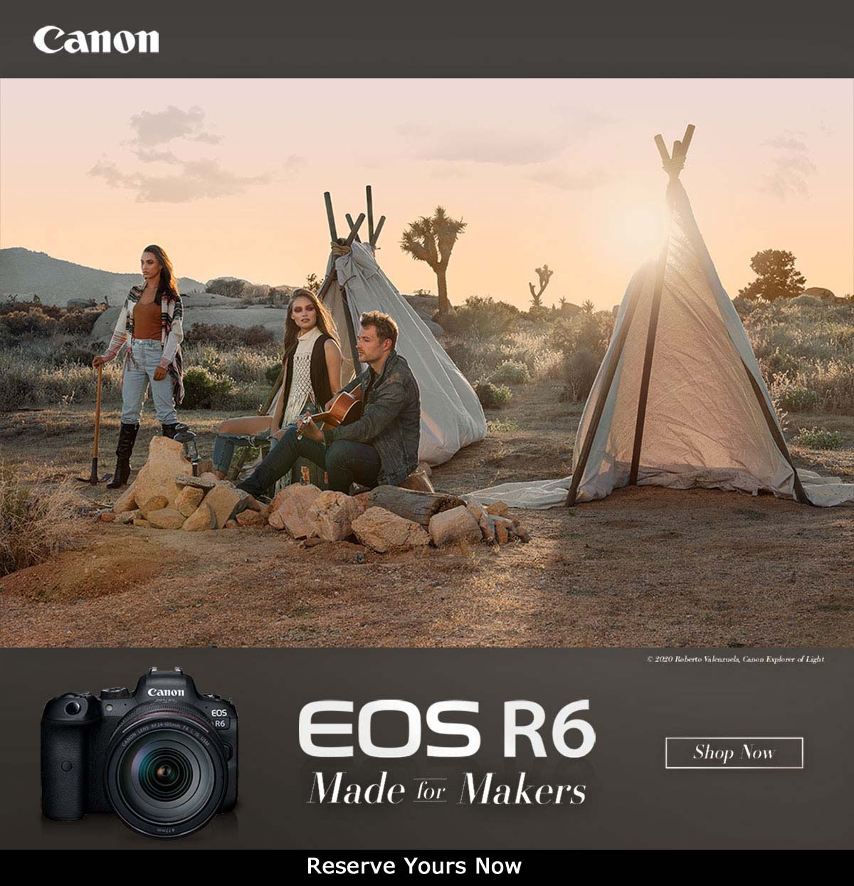 Canon EOS R6 - Made for Makers - with 24-105mm lens in stock now