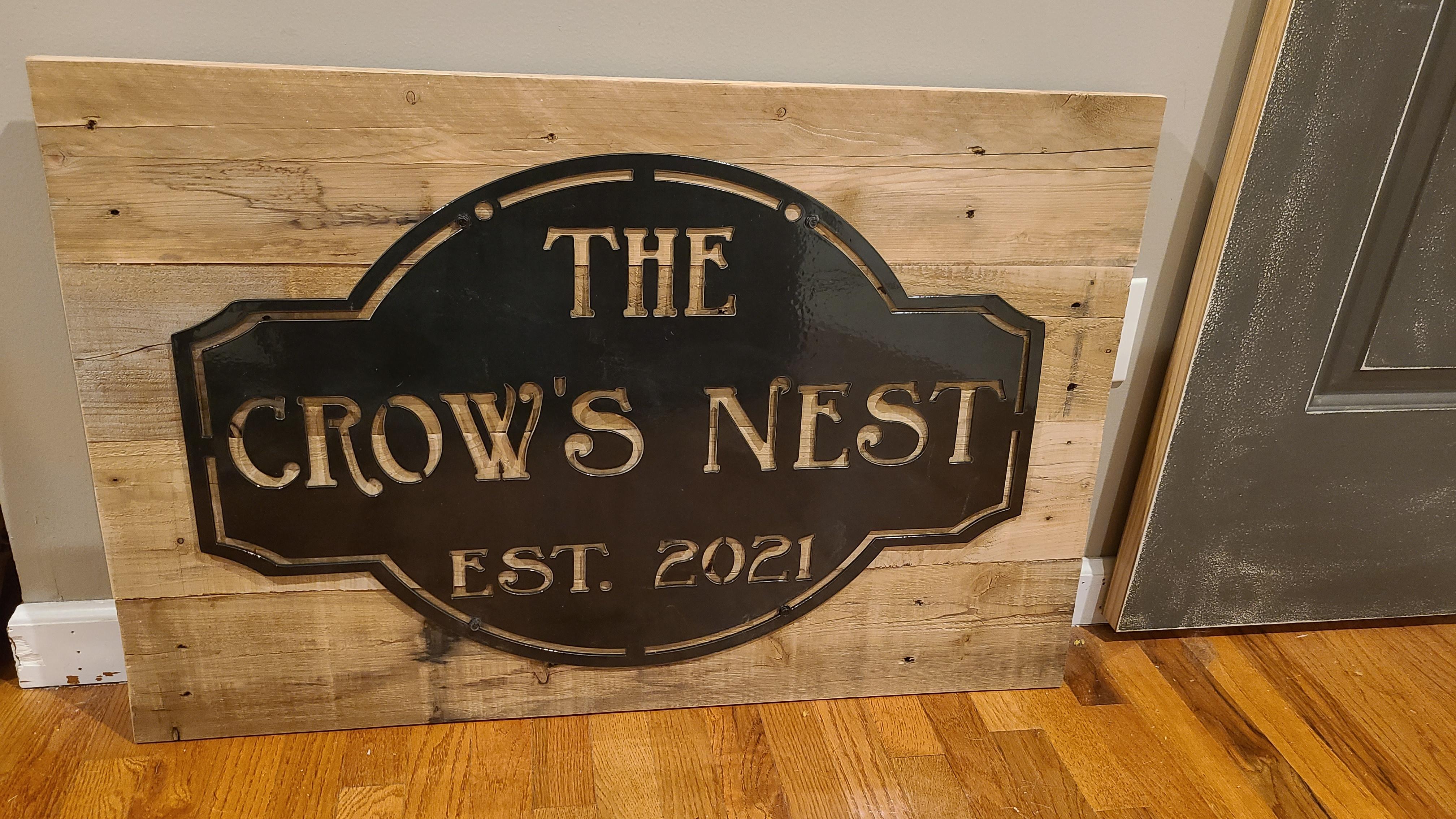 Custom Wood and Metal Sign