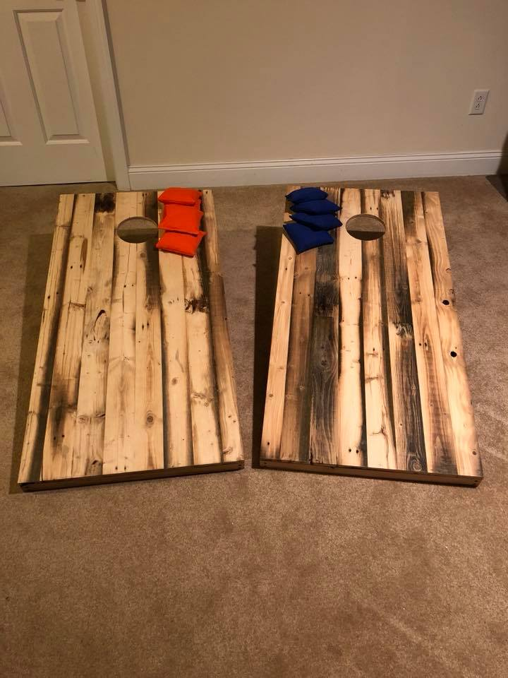 Reclaimed Wood Cornhole Set