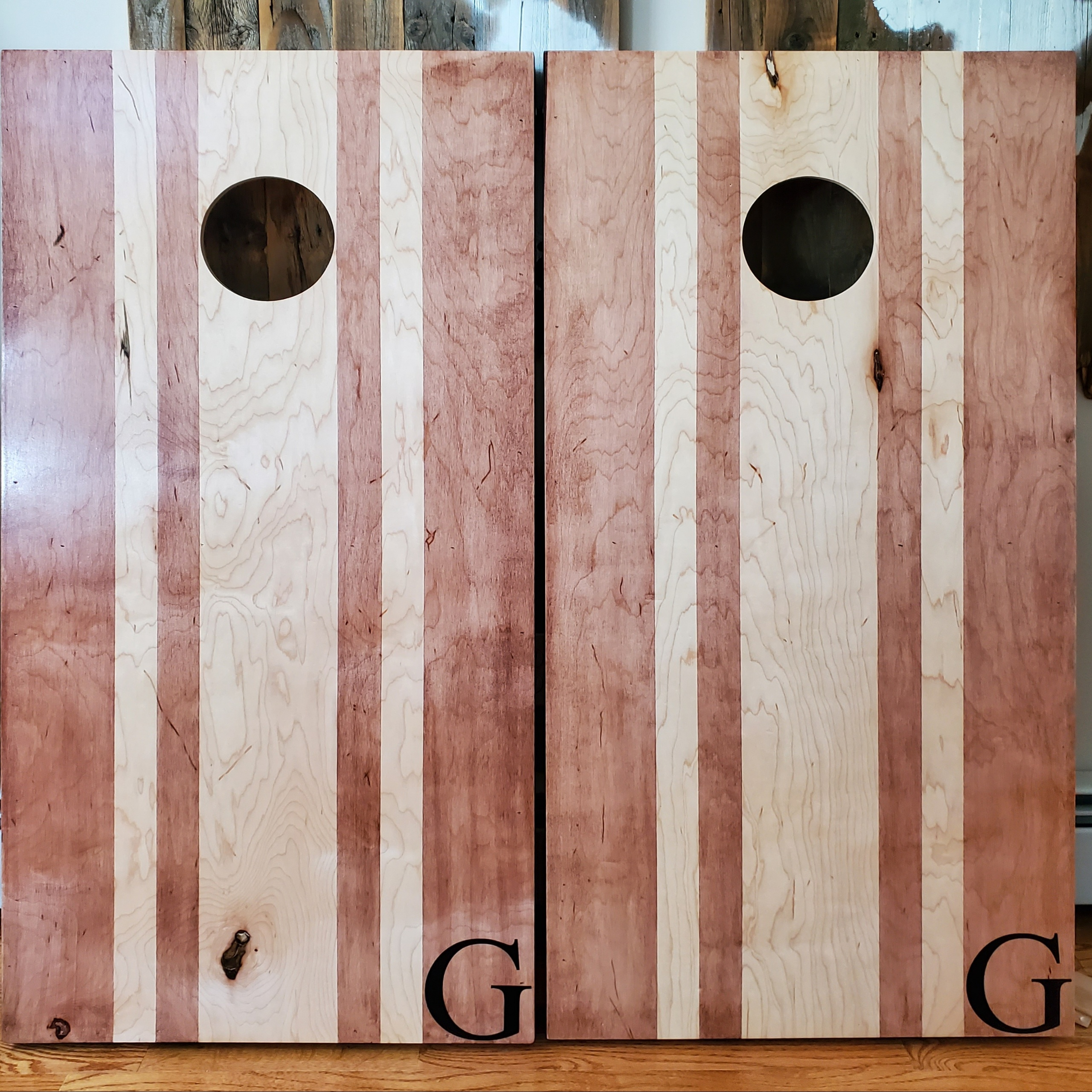 Custom Letter Size and Placement Cornhole Set
