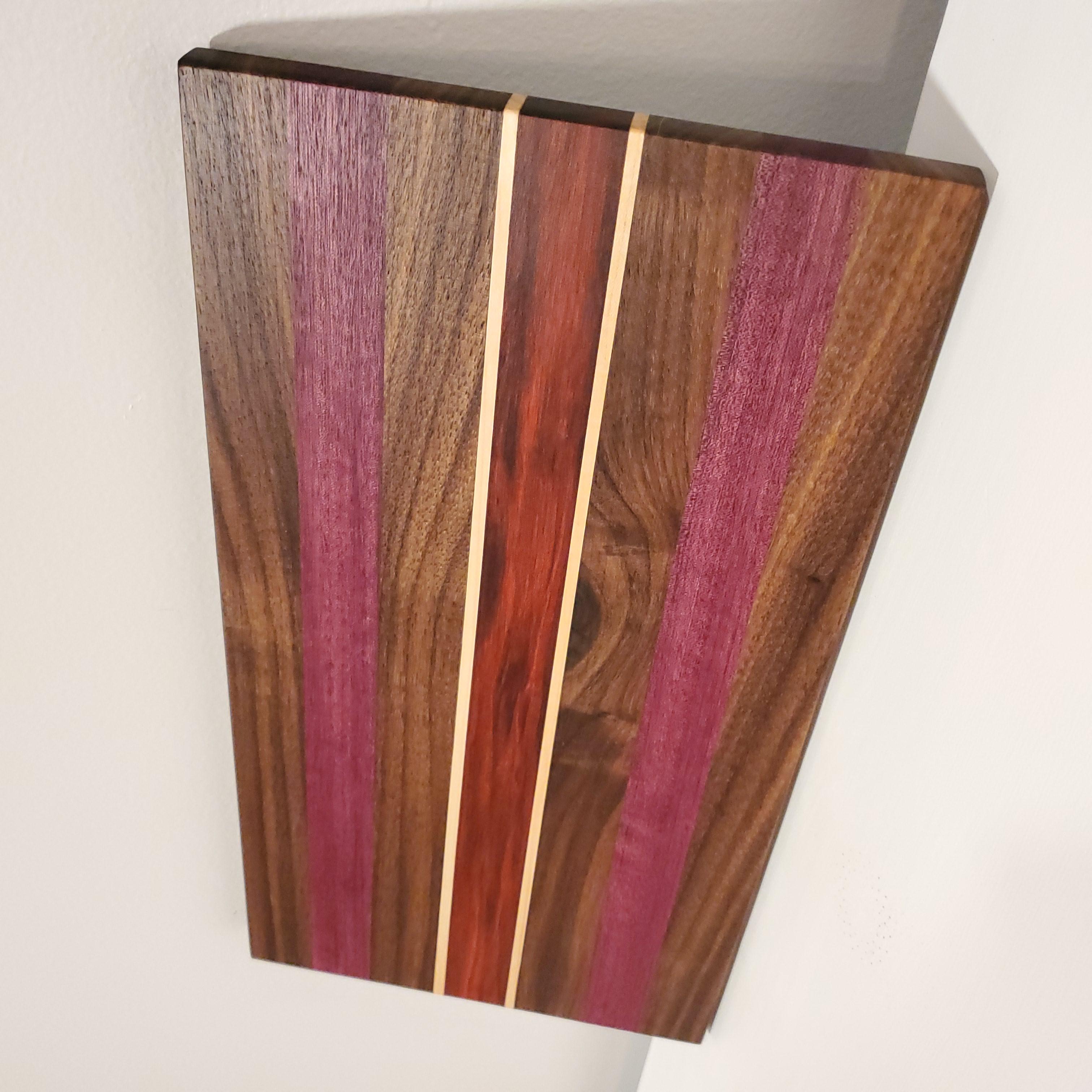 Cutting Board - Walnut, Redheart, Purpleheart & Maple
