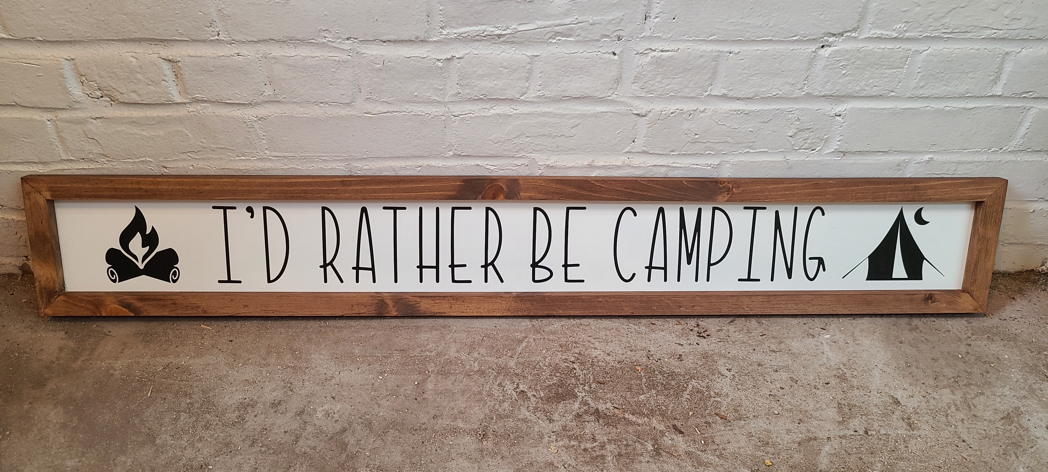I'd rather Be Camping Decorative Sign