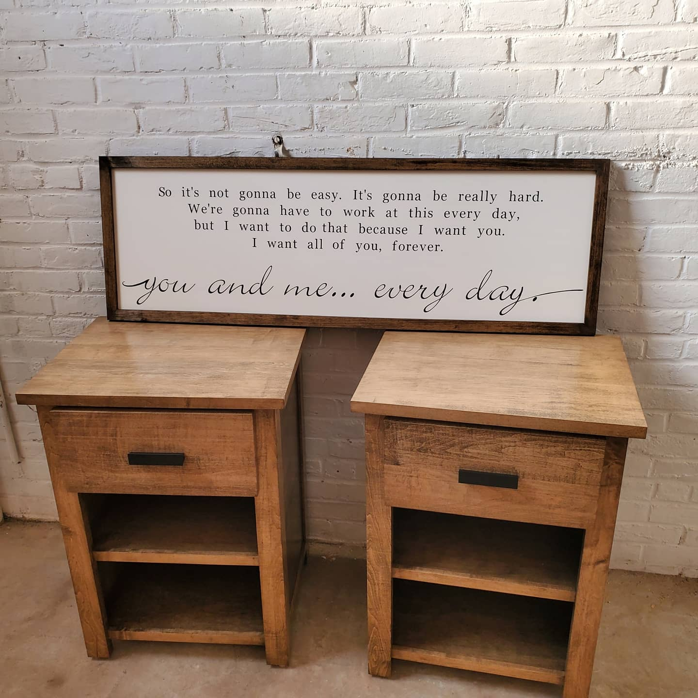 Night Stands and custom sign