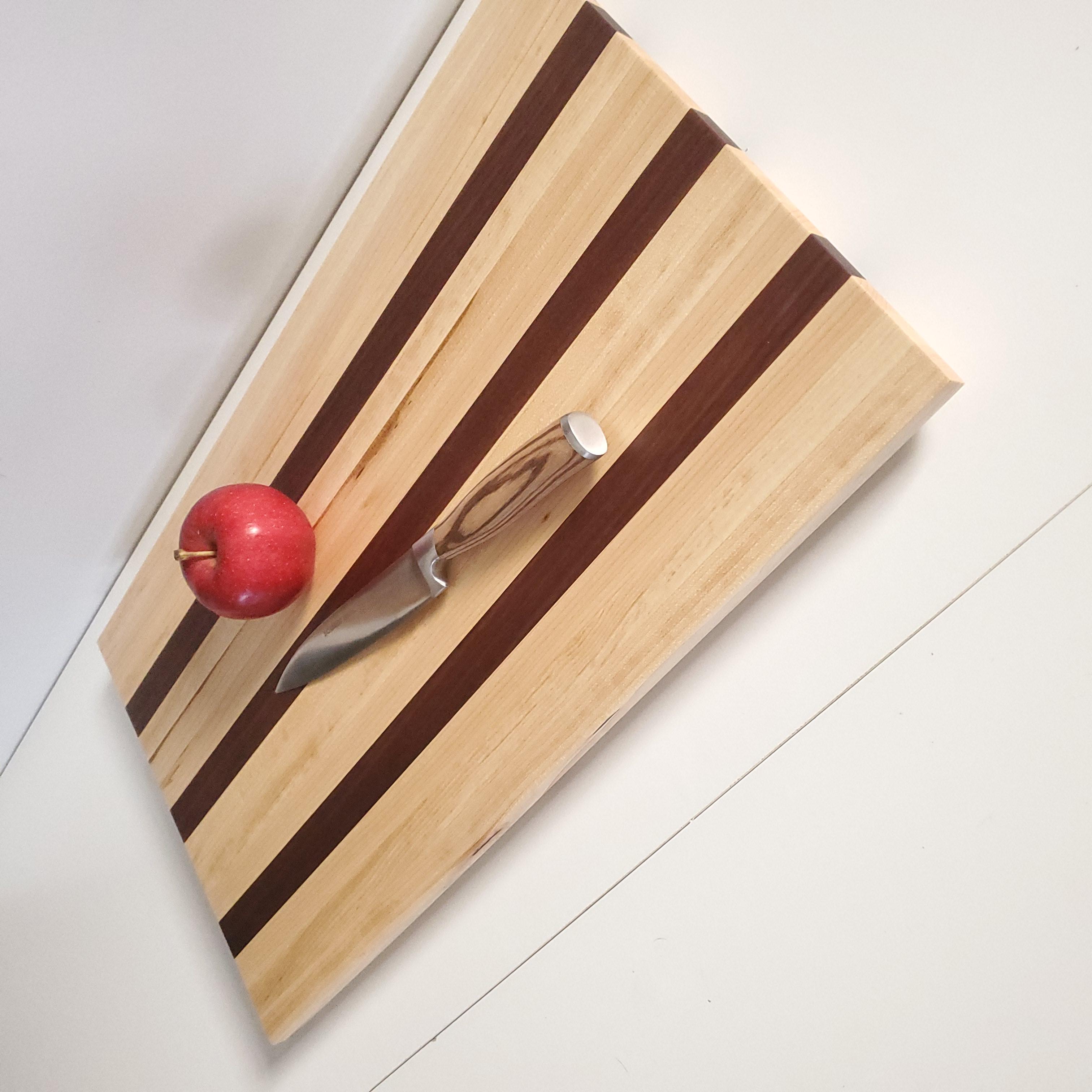 Striped Cutting Board - Black Walnut & Maple