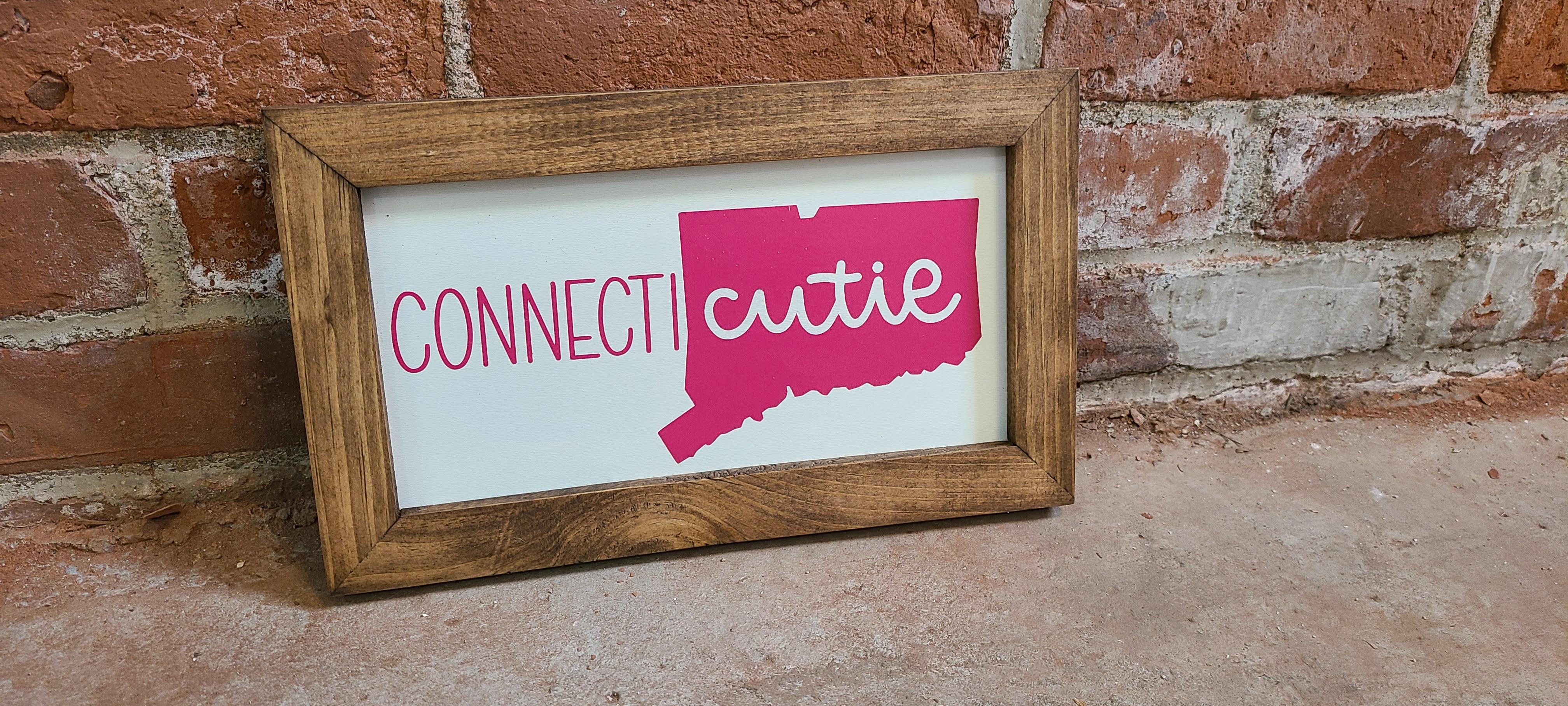 Connecticutie Decorative Sign