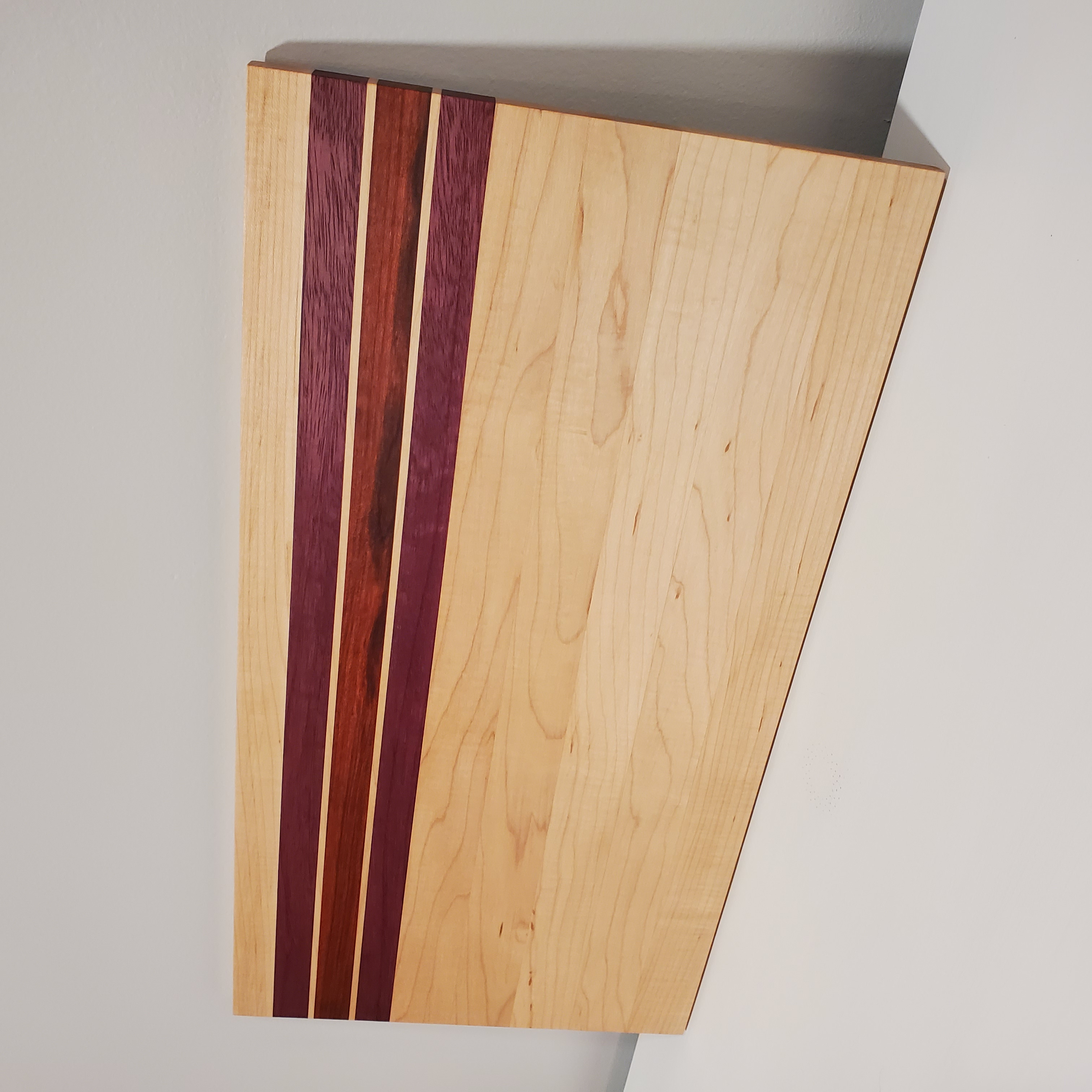 Cutting Board - Maple, Redheart and Purpleheart