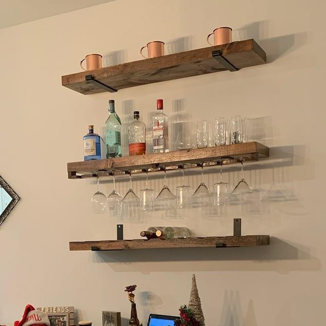 Custom Wine Shelves