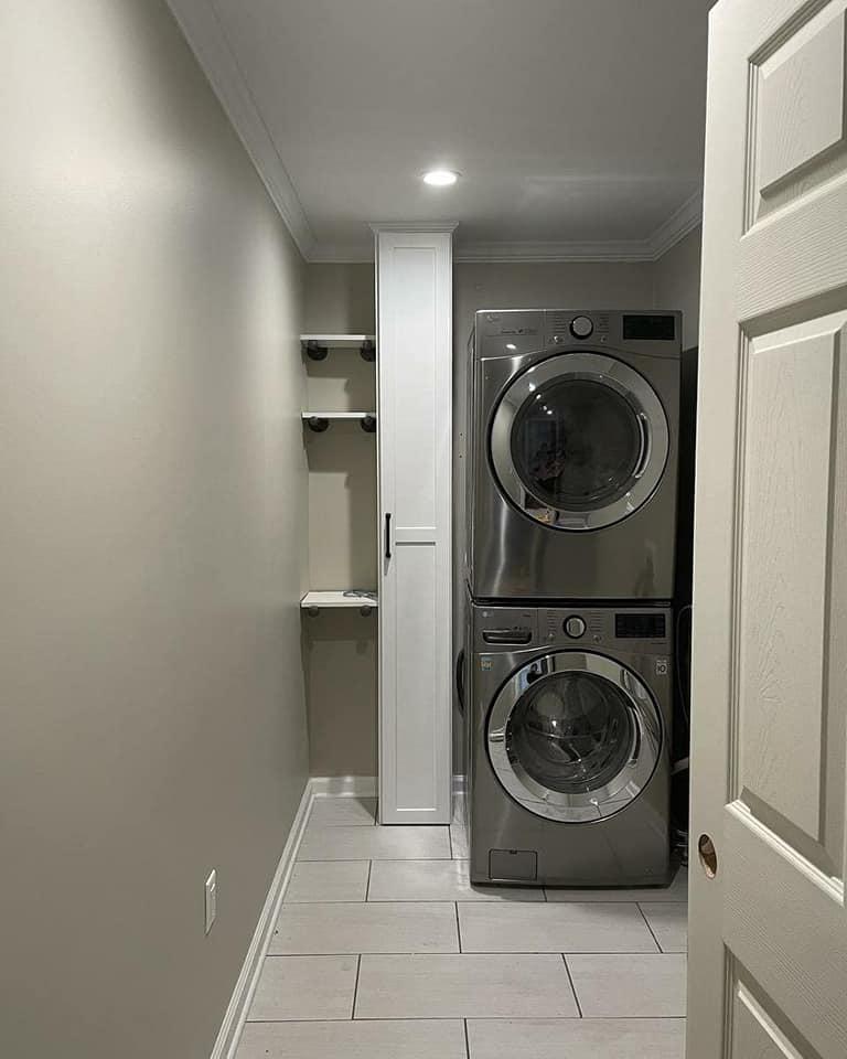 Custom Laundry Room Closet and Shelving
