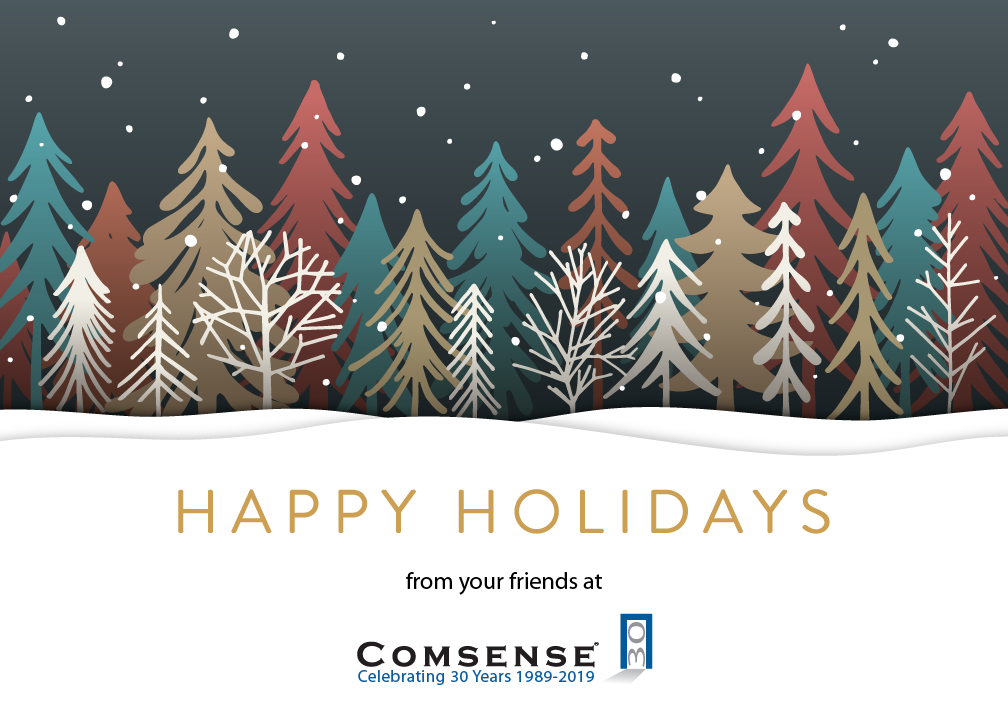 Happy Holidays from your friends at Comsense
