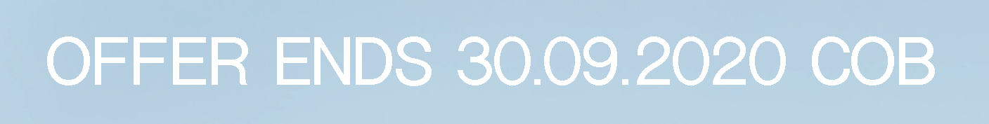 Offer ends 30.09.2020