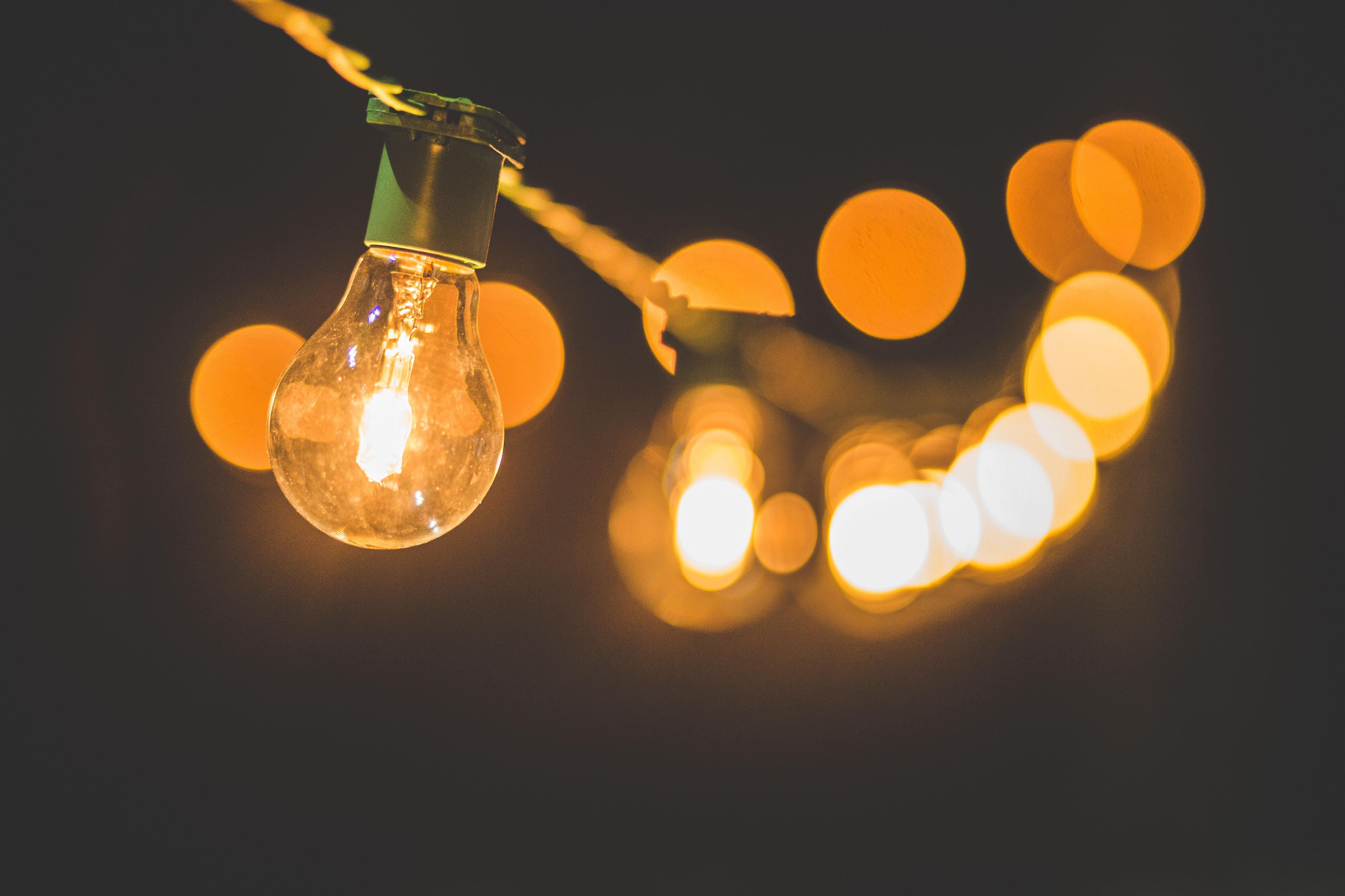 Lightbulb on a string