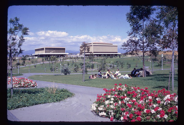 Aldrich-Park,-the-Library-and-Commons-in-June-1967