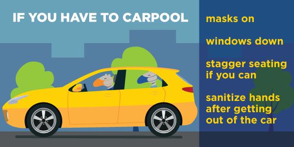 Carpooling, preventative measures