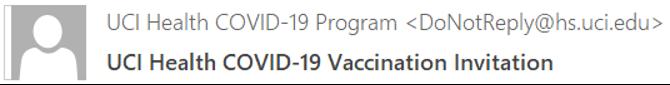 Sample vaccine invitation email
